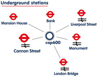 Map of nearby tube stations